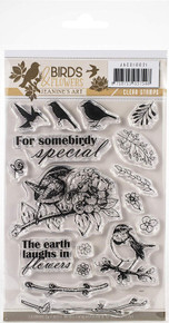 Find It Trading Jeanine's Art Clear Stamps-Birds & Flowers  JA10021