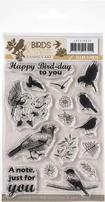 Find It Trading Jeanine's Art Birds & Flowers Clear Stamps - JA10022