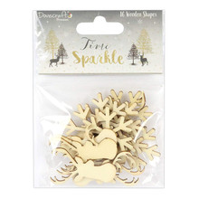 Dovecraft Time to Sparkle 16 pc Wooden Shapes DCWDN045X17