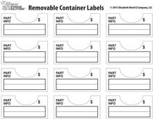 Darice 96-Piece Elizabeth Ward Bead Storage Solutions Container Labels