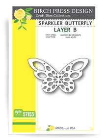 Birch Press Design Sparkler Butterfly Layering Die Plate Layer B Cutting Die 57067-A