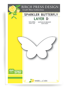 Birch Press Design Sparkler Butterfly Layering Die Plate Layer D Cutting Die