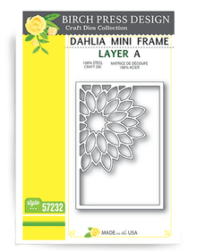 Birch Press Design Dahkia Mini Frame Layering Die Plate Layer A Cutting Die