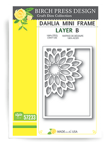 Birch Press Design Dahkia Mini Frame Layering Die Plate Layer B Cutting Die