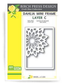 Birch Press Design Dahkia Mini Frame Layering Die Plate Layer C Cutting Die