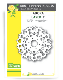 Birch Press Design Adora Layering Die Plate Layer C Cutting Die