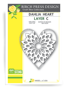 Birch Press Design Dalhia Heart Layering Die Plate Layer C Cutting Die