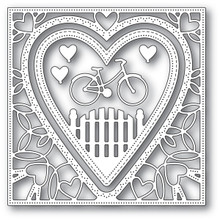 Memory Box Die Neighborhood Heart Frame