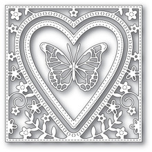Memory Box Die Butterfly Heart Frame