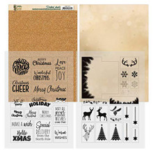 Find It Trading Christmas in Gold Printed Mica Sheets A4 Pack ADMC1003