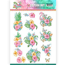 Find It Trading Happy Tropics 3D Pushout Sheet Tropical Flowers SB100362