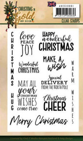 Find It Trading Amy Design- Christmas in Gold Clear Stamps- ADCS10061