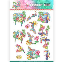 Find It Trading Happy Tropics 3D Pushout Sheet Exotic Birds SB10364