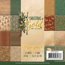 Find It Trading Christmas in Gold- 6'x6' Paperpack ADPP10027