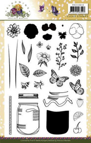 Find It Trading Precious Marieke Blooming Summer Clear Stamps PMCS10040