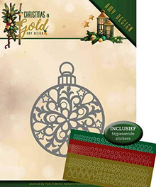 Find It Trading Amy Design Christmas in Gold Christmas Bauble Hubbydots Die and Sticker Set ADD10183