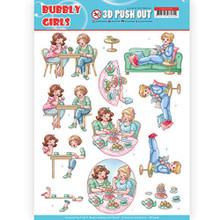 Find It Trading Bubbly Girls 3D Push Out Sheet SB10348