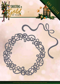 Find It Cutting Dies - Amy Design - Christmas in Gold - Christmas Wreath- ADD10181