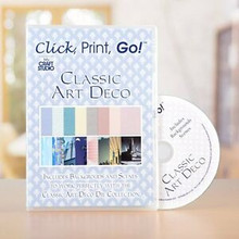 My Craft Studio Click, Print, Go! Classic Art Deco CD-ROM