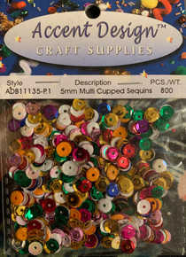 Accent Design Craft supplies- Mixed Color Sequins ADB11135-P.1