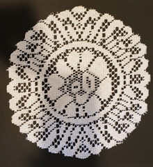 """Project Lace Set of 3- 10"""" Round Lace Table Doily  -- Use to Create Fabulous Backgrounds!"""