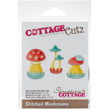 CottageCutz Stitched Muchrooms Die-Cut