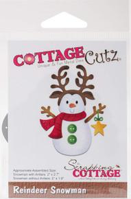 CottageCutz Reindeer Snowman Die-Cut