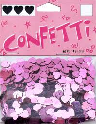 Pink Hearts Mirror Confetti .5oz Package