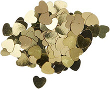 Gold Hearts Mirror Confetti .5oz Package