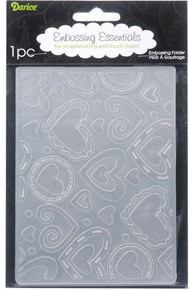 Darice Embossing Folder, 4.25 by 5.75-Inch, Layered Hearts