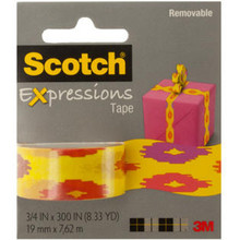 Kole Imports Scotch Expressions Removable Tape - Southwest Yellow with Tape Dispenser
