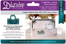 Crafter's Companion Die'sire Edge'ables Die Set- Festive Wreath