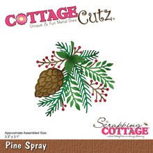 CottageCutz Pine Spray 3.3'X3.1' Die