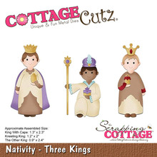 CottageCutz Dies-Three Kings .9' To 2.4', CC345, by CottageCutz, One (1)