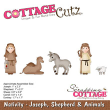 CottageCutz Dies-Joseph, Shepherd & Animals .6' To 2.3'