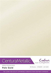 Crafter's Companion Centural Pearl A4 10 pc- Pale Gold