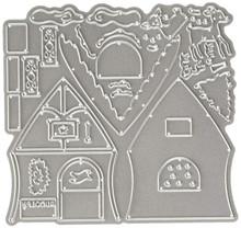 CottageCutz Reindeer Barn 3.8'X3' Die