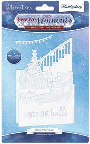 Hunkydory Festive Moments Set The Scene - Moonstone Die Collection - Deck The Halls MSTONE105
