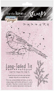 Hunkydory for The Love of Stamps - Watercolour Wings - Long-Tailed Tit FTLS391