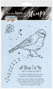 Hunkydory for The Love of Stamps - Watercolour Wings - Blue Tit FTLS390