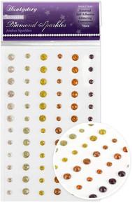 Hunkydory Glitter Diamond Sparkles Self-Adhesive- Amber Sparkles Glittering Gemstones GEM225