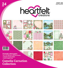 Heartfelt Creations Hcdp1-285 Double-Sided Paper Pad 12x12 24/Pkg-Camelia Carnation