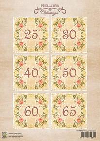Nellie's Vintage Prints-Numbers 1 NEVI049