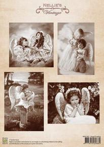Nellie's Vintage Prints-Angel Praying NEVI042