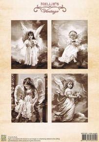 Nellie's Vintage Prints-Little Angels NEVI033