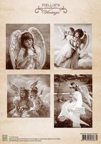 Nellie's Vintage Prints-Angel Flowers NEVI041