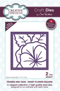 Sue Wilson Designs - Frames and Tags Collection - Pansy Flower Square (CED4377)