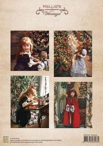 Nellie's Vintage Prints-Christmas Colour Vintage Presents NEVI016