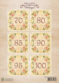 Nellie's Vintage Prints- Vintage Numbers 2 NEVI050