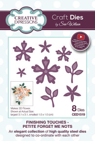 Sue Wilson Designs - Finishing Touches Collection - Petite Forget Me Nots (CED1519)
